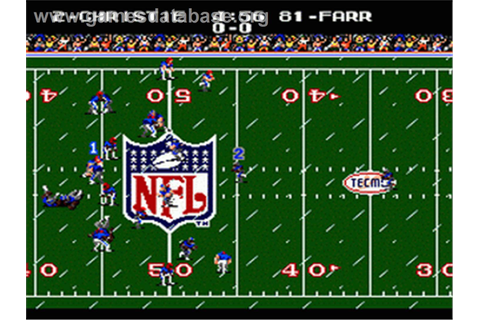 Tecmo Super Bowl - Sega Genesis - Games Database
