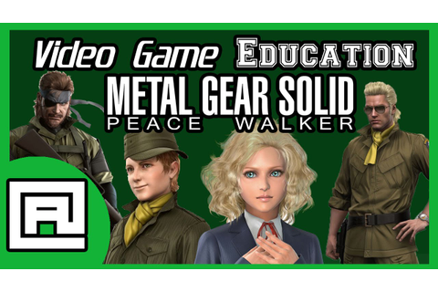 Video Game Education: Metal Gear Solid Peace Walker - YouTube