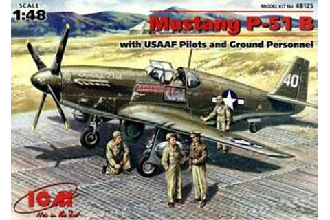 P-51 B MUSTANG W/PILOTS AND GROUND CREW (J.HERBST -USAAF ...
