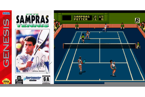 Play Pete Sampras Tennis on Genesis