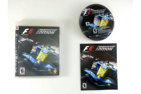 Formula One Championship Edition game for Playstation 3 ...