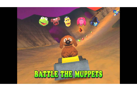 Muppet RaceMania PS1/PSX : Battle gameplay - YouTube