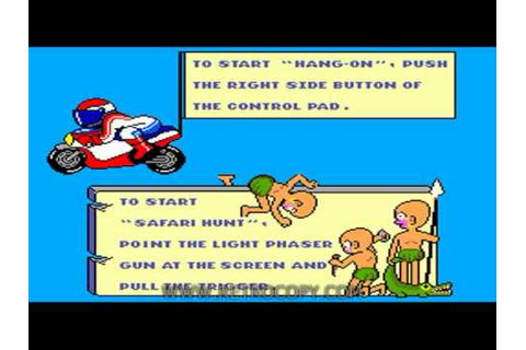 Hang On & Safari Hunt & Snail Maze (Sega Master System ...