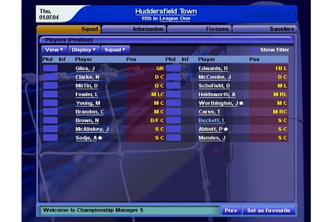 Screens: Championship Manager 5 - PS2 (5 of 9)