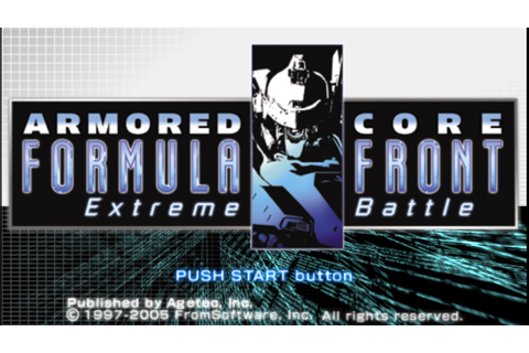 Armored Core Formula Front Extreme Battle PSP ISO Free ...