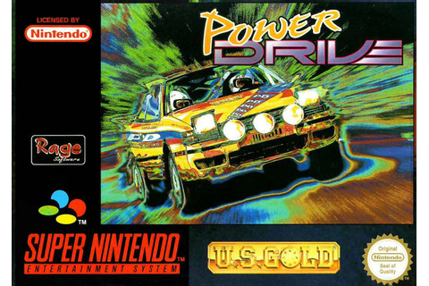 Power Drive (1994) SNES box cover art - MobyGames