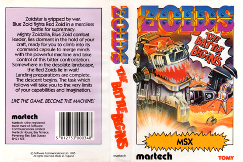Zoids - The Battle Begins (1985, MSX, Martech Games ...