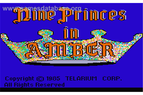 Nine Princes in Amber - Atari ST - Games Database