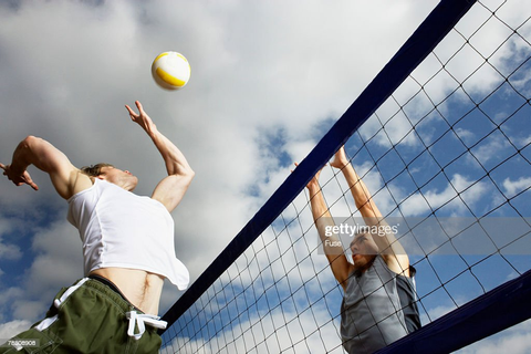 Beach Volleyball Game Stock Photo | Getty Images
