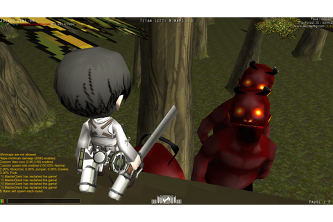 Skin titan Demon Attack on Titan Tribute Game - AOTTG ...