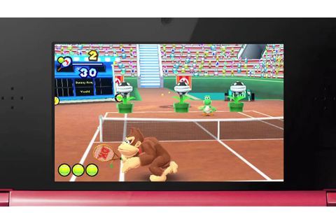 Mario Tennis Open (3DS) Special Games Trailer - YouTube