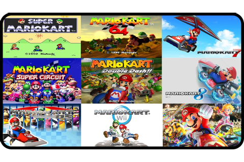 Mario Kart - All Courses from every Mario Kart ...