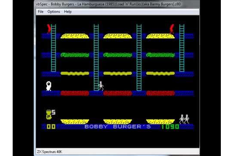 Barmy Burgers & Bobby Burgers - ZX Spectrum - emulador ...