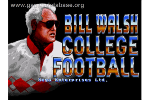 Bill Walsh College Football - Sega Genesis - Games Database