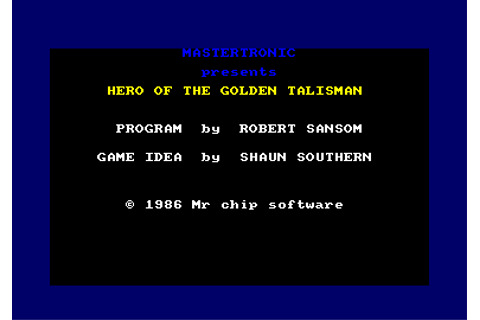 Download Hero of the Golden Talisman - My Abandonware