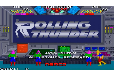 Rolling Thunder 1 Arcade Gameplay Playthrough longplay ...