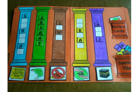 Pillars of Islam File Folder Game | Umm Abdul Basir's ...