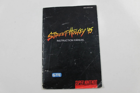 Manual - Street Hockey 95 - Snes Super Nintendo