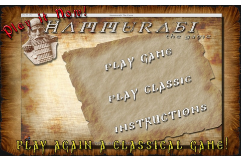Download free Hammurabi, The Game by Alessandro ...