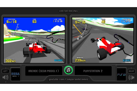 Virtua Racing (Arcade vs Playstation 2) Side by Side ...
