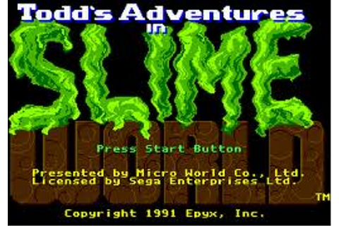 Todd's Adventures in Slime World | SSega Play Retro Sega ...