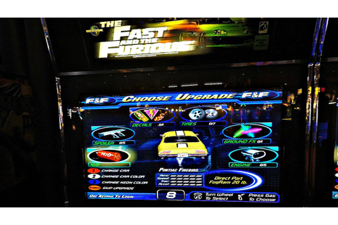 The Fast And The Furious Arcade Game: Kids Challenge Each ...