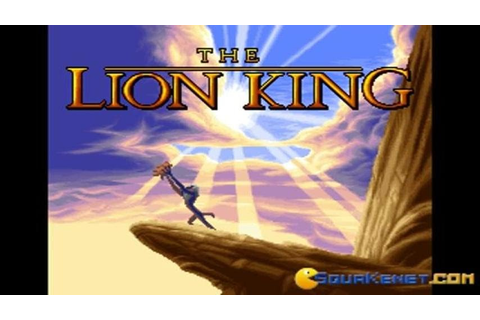 Lion King gameplay (PC Game, 1994) - YouTube