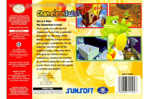 Chameleon Twist 2 - Nintendo N64 - Games Database