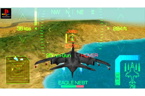 Eagle One: Harrier Attack - Gameplay PSX / PS1 / PS One ...