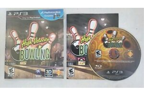 High Velocity Bowling PlayStation 3 PS3 Kids Game Complete ...