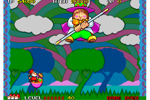 Don Doko Don arcade video game by Taito (1989)