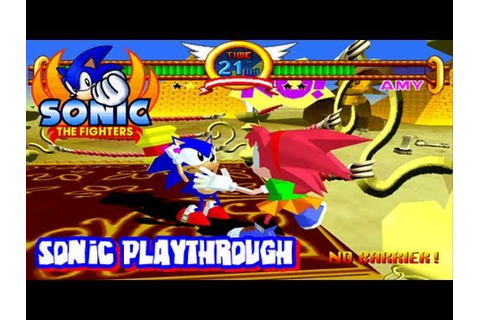 Sonic the Fighters - HD 1080p - Sonic Playthrough - YouTube