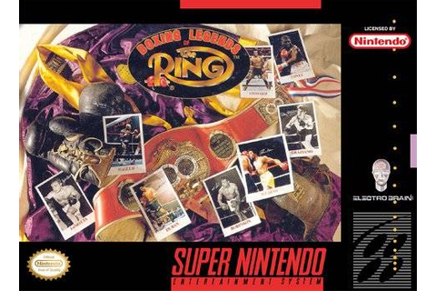 Boxing Legends of the Ring SNES Super Nintendo