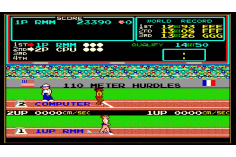 Track and Field Arcade Game - YouTube