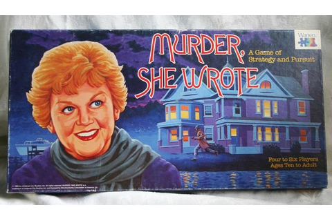 Murder She Wrote Vintage Board Game COMPLETE 1985
