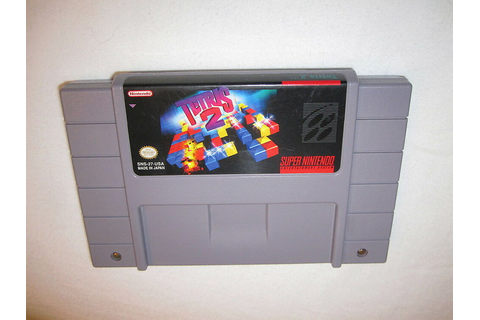 Tetris 2 (Super Nintendo SNES) Game Cartridge Excellent ...