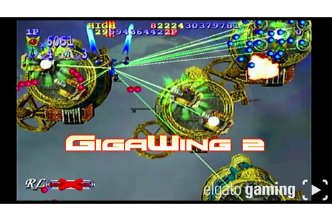 Retro Plays GigaWing 2 On Dreamcast - YouTube