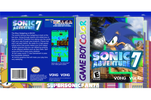 Sonic Adventure 7 Game Boy Color Box Art Cover by ...