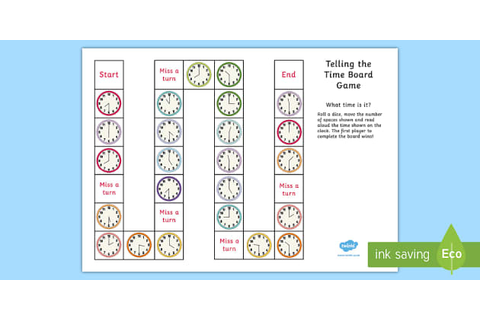 Telling the Time Board Game - Differentiated KS2 Clocks ...
