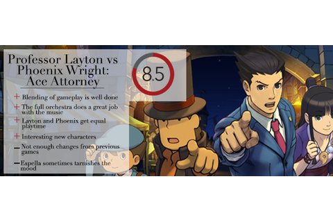 BYTE: REVIEW: Professor Layton vs. Phoenix Wright: Ace ...