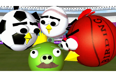 Ball Games with the Angry Birds ♫ 3D animated spoof ...