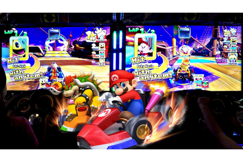 Arcade Game Mario Kart GP DX 2 Player Versus Mode & CO-OP ...