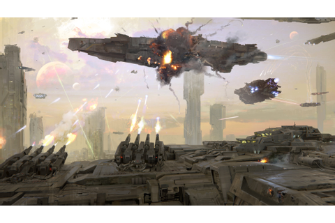 Wallpaper Dreadnought, game, space, battle, planet ...