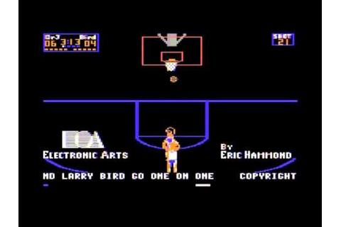 Dr. J vs. Larry Bird - One on One (C64): Intro - YouTube