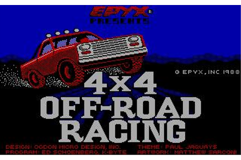 4x4 Off-Road Racing Download (1988 Simulation Game)