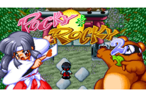 1994 Pocky & Rocky 2 (Super Nintendo) Game Playthrough ...