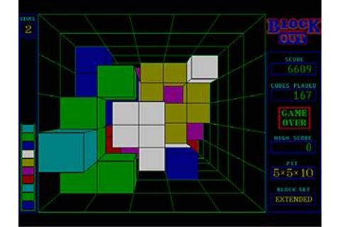 Block Out Download (1989 Puzzle Game)