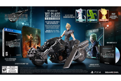 Complete Final Fantasy VII Remake Preorder and Special ...