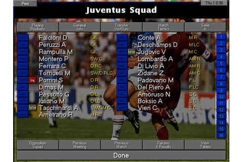 Championship Manager 2: The Italian Leagues Season 96/97 ...