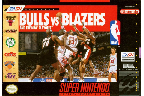 Bulls vs. Blazers and the NBA Playoffs for Genesis (1993 ...